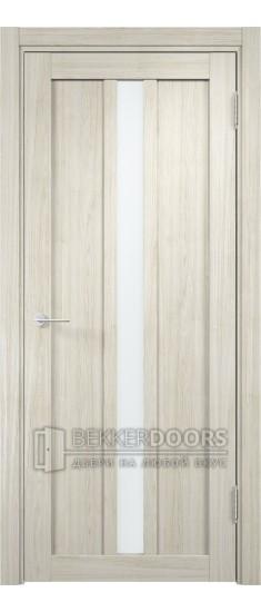 Дверь ПО Эко 01 Беленый дуб мелинга Стекло Сатинато Люкс