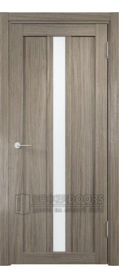 Дверь ПО Эко 01 Вишня Малага Стекло Сатинато Люкс