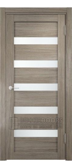 Дверь ПО Эко 03 Вишня Малага Стекло Сатинато Люкс