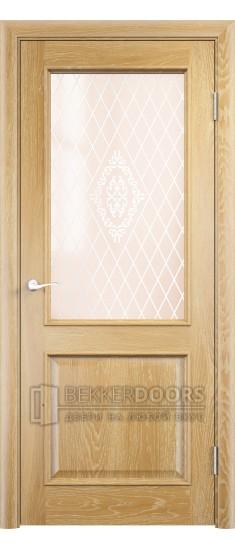 Дверь ПО Барселона Анегри золотой Стекло Сатинато Люкс
