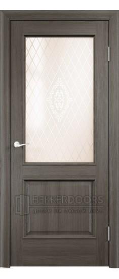 Дверь ПО Барселона Дуб антик Стекло Сатинато Люкс