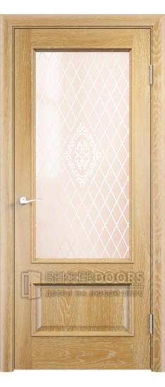 Дверь ПО Барселона 2 Анегри золотой Стекло Сатинато Люкс