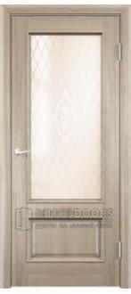 Дверь ПО Барселона 2 Дуб натуральный Стекло Сатинато Люкс