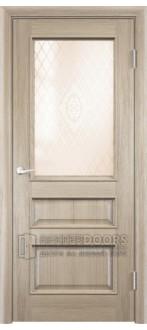 Дверь ПО Барселона 4 Дуб натуральный Стекло Сатинато Люкс