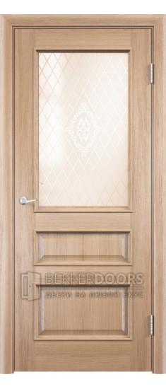 Дверь ПО Барселона 4 Анегри золотой Стекло Сатинато Люкс