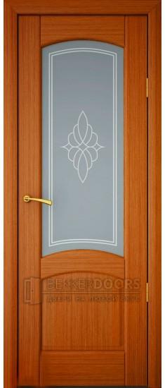 Дверь ПО София Темная вишня