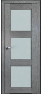 Дверь ПО 2.27XN Грувд Серый  Стекло матовое