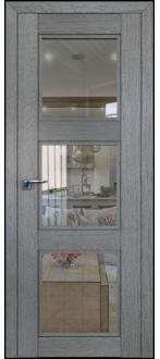 Дверь ПО 2.27XN Грувд Серый  Стекло прозрачное