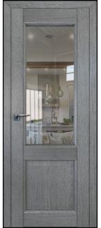 Дверь ПО 2.42XN Грувд Серый  Стекло прозрачное