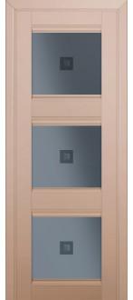 Дверь ПО 4U Капучино сатинат Стекло узор графит с прозрачным фьюзингом