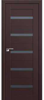 Дверь ПО 7U Темно коричневый Стекло графит
