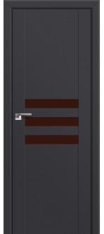 Дверь ПО 74U Антрацит Стекло Коричневый  лак