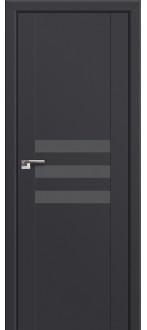 Дверь ПО 74U Антрацит Стекло Серебро матлак