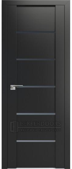 Дверь ПО 99U Черный матовый Стекло Графит