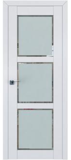 Дверь ПО 2.13U Аляска Стекло Square матовое