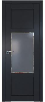 Дверь ПО 2.15U Антрацит Стекло Square графит