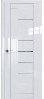 Дверь ПО 17L Белый Люкс Стекло Прозрачное