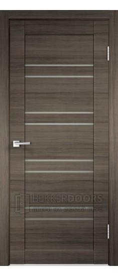 Дверь LINEA 8 ПО Дуб Серый поперечный