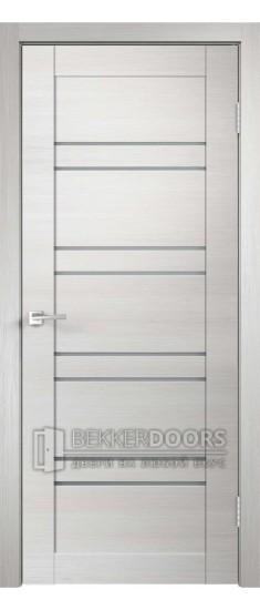 Дверь LINEA 8 ПО Дуб Белый поперечный