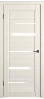 Дверь ПО GL Light 25 Дуб латте Стекло Лакобель белый