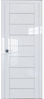 Дверь ПО 45L Белый Люкс Стекло Триплекс белый