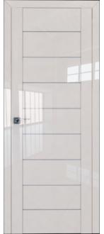 Дверь ПО 45L Магнолия Люкс Стекло Триплекс белый