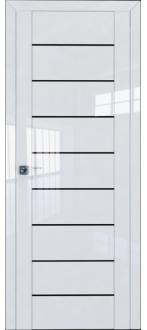 Дверь ПО 45L Белый Люкс Стекло Триплекс черный