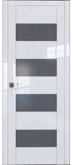 Дверь ПО 46L Белый Люкс Стекло графит