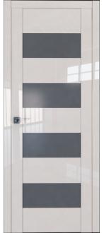 Дверь ПО 46L Магнолия Люкс Стекло графит