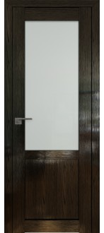Дверь ПО 2.17STP Pine Black glossy Стекло Матовое