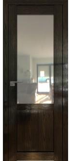 Дверь ПО 2.17STP Pine Black glossy Стекло Прозрачное
