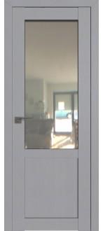 Дверь ПО 2.17STP Pine Manhattan Grey Стекло Прозрачное