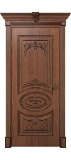 Дверь Вителия ПГ  Дуб янтарный+патина черная
