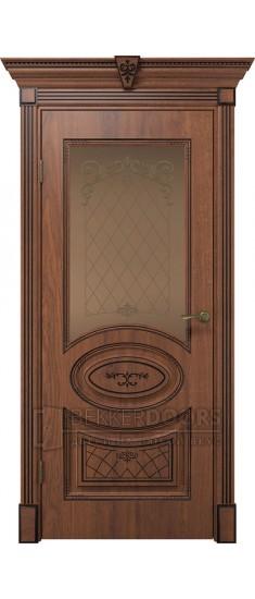 Дверь Вителия ПО  Дуб янтарный+патина черная