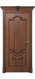 Дверь Олимпия ПГ  Дуб янтарный+патина черная