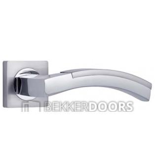 Дверная ручка Сиракуза белый никель/хром