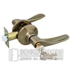 Дверная ручка Нажимной кноб с ключами старая бронза