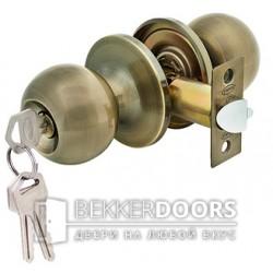 Дверная ручка-защелка Кноб с ключами старая бронза
