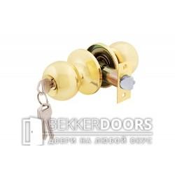 Дверная ручка-защелка Кноб с ключами золото