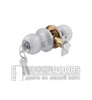 Дверная ручка-защелка Кноб с ключами белый никель