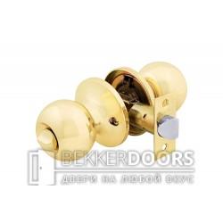 Дверная ручка-защелка Кноб сантехническая золото