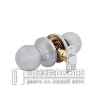 Дверная ручка-защелка Кноб межкомнатная белый никель
