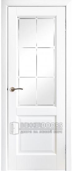 Дверь Профиль 1 ПО Эмаль белая