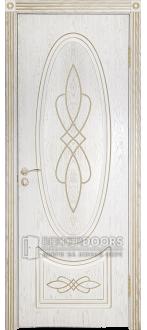 Дверь Венеция 1 ПГ Золото Эмаль