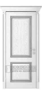 Дверь Валенсия ПГ Эмаль Серебро
