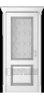 Дверь Валенсия ПО Эмаль Серебро