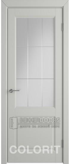 Дверь К1 ПО Эмаль светло-серая