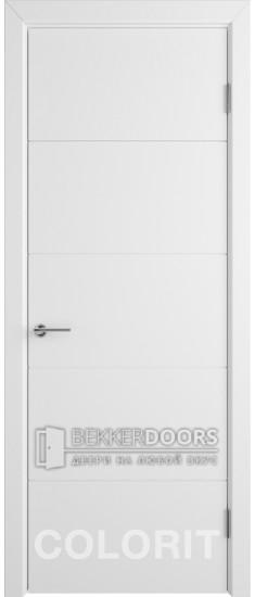Дверь К4 ПГ Эмаль белая