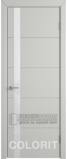 Дверь К4 ПО Эмаль светло-серая