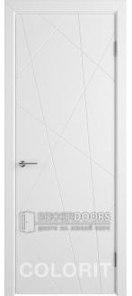 Дверь К5 ПГ Эмаль белая